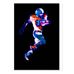 Football Runner The MUSEUM Zazzle Gifts Postcard