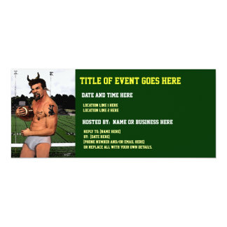 Football Satyr in Briefs Custom Invitations