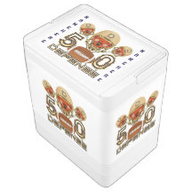 Football SB 50 24 Can Cooler Check Text on Side Igloo Drink Cooler