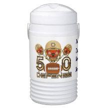 Football SB 50 Beverage Cooler - Half Gallon Igloo Beverage Cooler