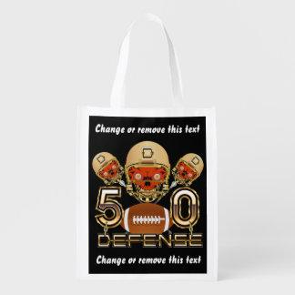 Football SB 50 Defense Reusable Bag