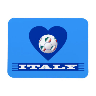 FOOTBALL Scarf ITALY and ball soccer in heart Rectangle Magnets