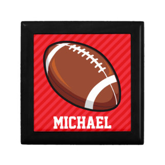 Football; Scarlet Red Stripes Gift Box