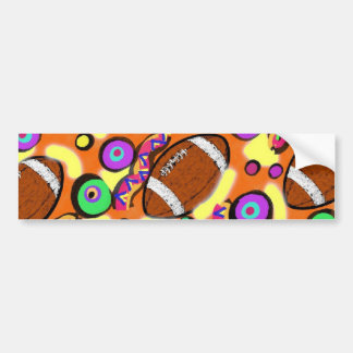 FOOTBALL SCENE 2 BUMPER STICKER