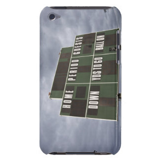 Football scoreboard and storm clouds. iPod Case-Mate case