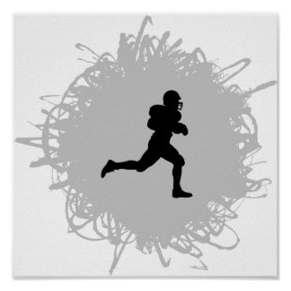 Football Scribble Style Poster