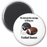 Football season 2 inch round magnet
