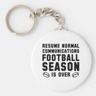 Football Season Is Over Keychain