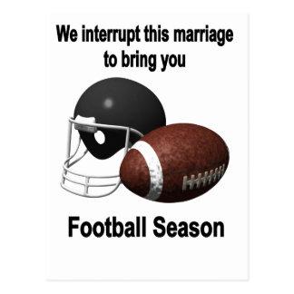 Football season postcard