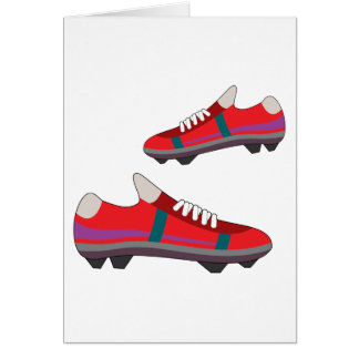 Football Shoes Greeting Cards