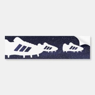 Football Shoes Pictograph Car Bumper Sticker
