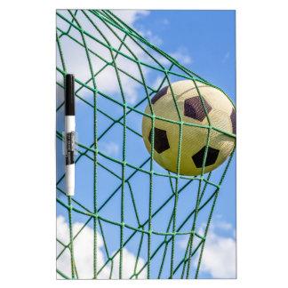 Football shot in goal net Dry-Erase board