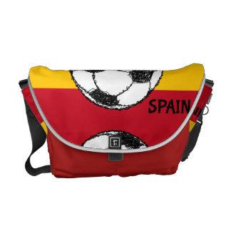 Football Sketch, Spain Messenger Bag
