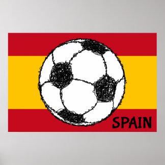 Football Sketch, Spain Poster