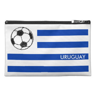 Football Sketch, Uruguay Flag Travel Accessories Bags