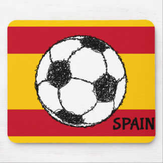Football Sketch with Flag of Spain Mouse Pad
