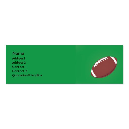 Football - Skinny Double-Sided Mini Business Cards (Pack Of 20)