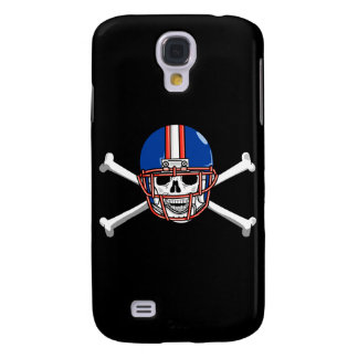 football skull and crossbones red and blue samsung galaxy s4 cover