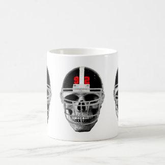 Football skull coffee mug