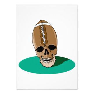 football skull head invitations