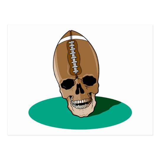 football skull head postcard