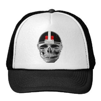 Football skull trucker hat