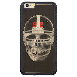 Football skull carved® maple iPhone 6 plus bumper