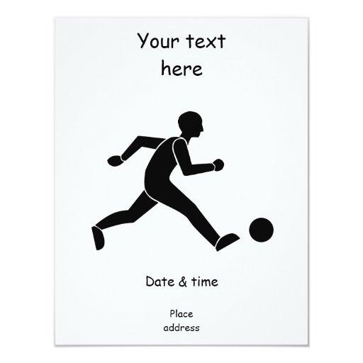 Football / soccer 4.25x5.5 paper invitation card