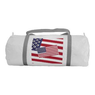 Football Soccer American Flag Gym Bag