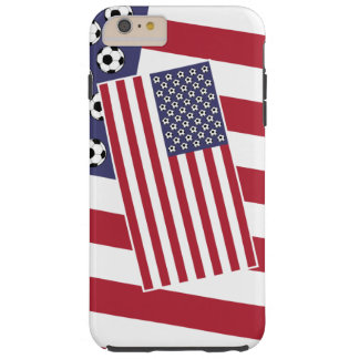 Football Soccer American Flag Tough iPhone 6 Plus Case
