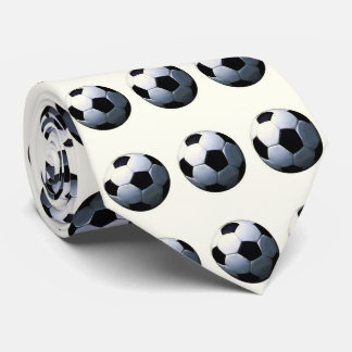 Football - Soccer Ball Artwork Neck Tie