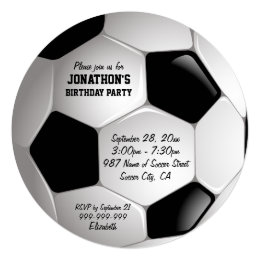 Soccer invitations announcements zazzle football soccer ball birthday party card filmwisefo Image collections
