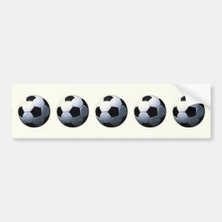Football - Soccer Ball Car Bumper Sticker