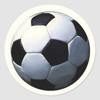 Football - Soccer Ball Classic Round Sticker