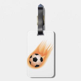 football, soccer ball fire bag tag