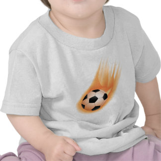 football soccer ball fire tshirt