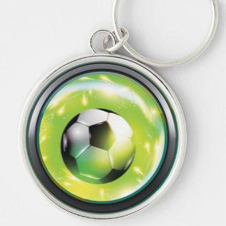 Football Soccer Ball Keychain