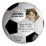 Football Soccer Ball Photo Birthday Party Personalized Invite