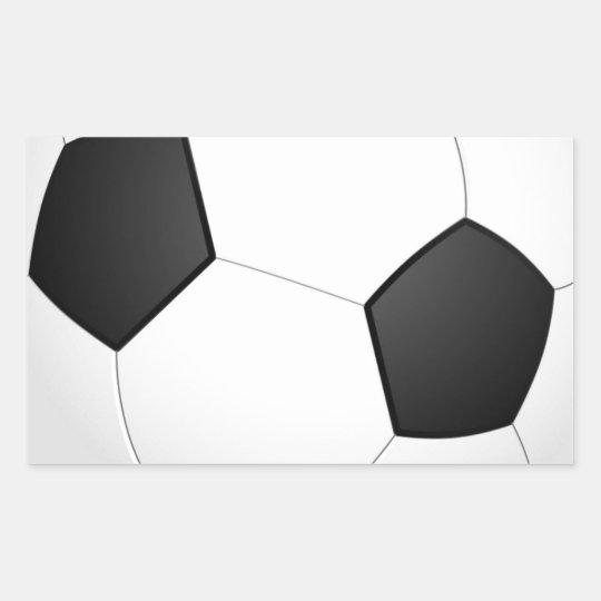 Football - Soccer Ball Rectangular Sticker