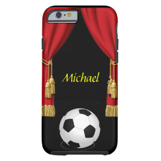 Football Soccer ball red curtain Iphone 6 case