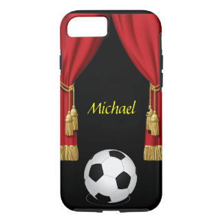 Football Soccer ball red curtain iPhone 7 case