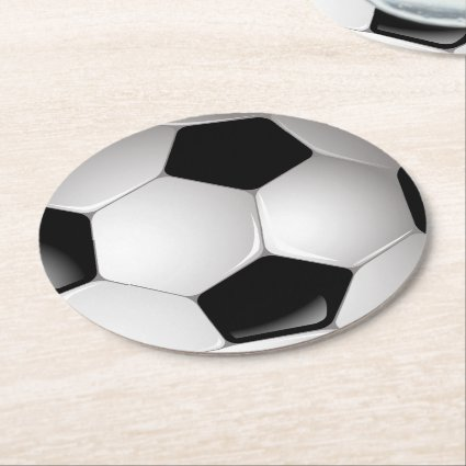 Football Soccer Ball Round Paper Coaster