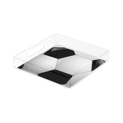 Football Soccer Ball Square Serving Trays