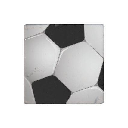 Football Soccer Ball Stone Magnet