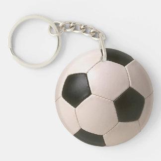 Football Soccer Ball Zipper-pull, ID Tag Keychain