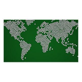 Football Soccer Balls World Map Pack Of Standard Business Cards