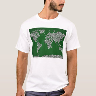 Football Soccer Balls World Map T-Shirt