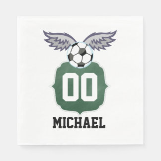 Football/Soccer Birthday Party Personalized Napkin