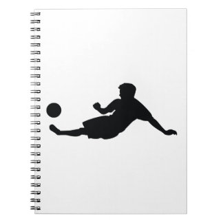 Football Soccer Black Silhouette Notebook