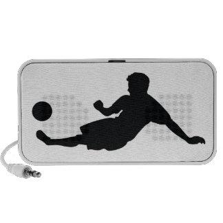 Football Soccer Black Silhouette Notebook Speaker